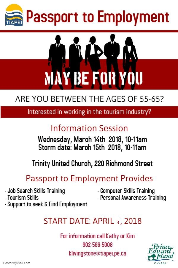 TIAPEI Passport to Employment Info Session Charlottetown @ Trinity United Church | Charlottetown | Prince Edward Island | Canada